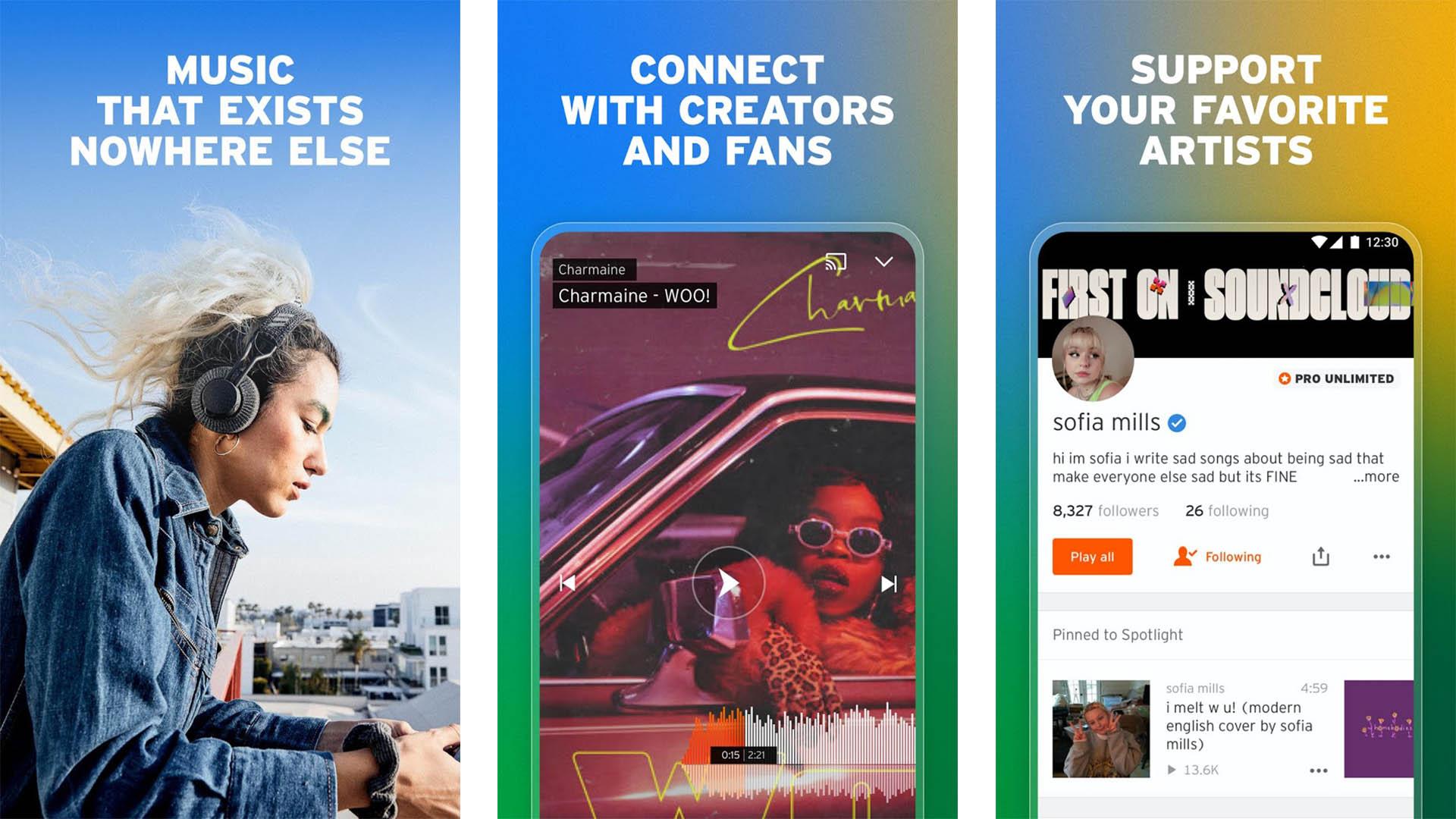 SoundCloud screenshot 2021