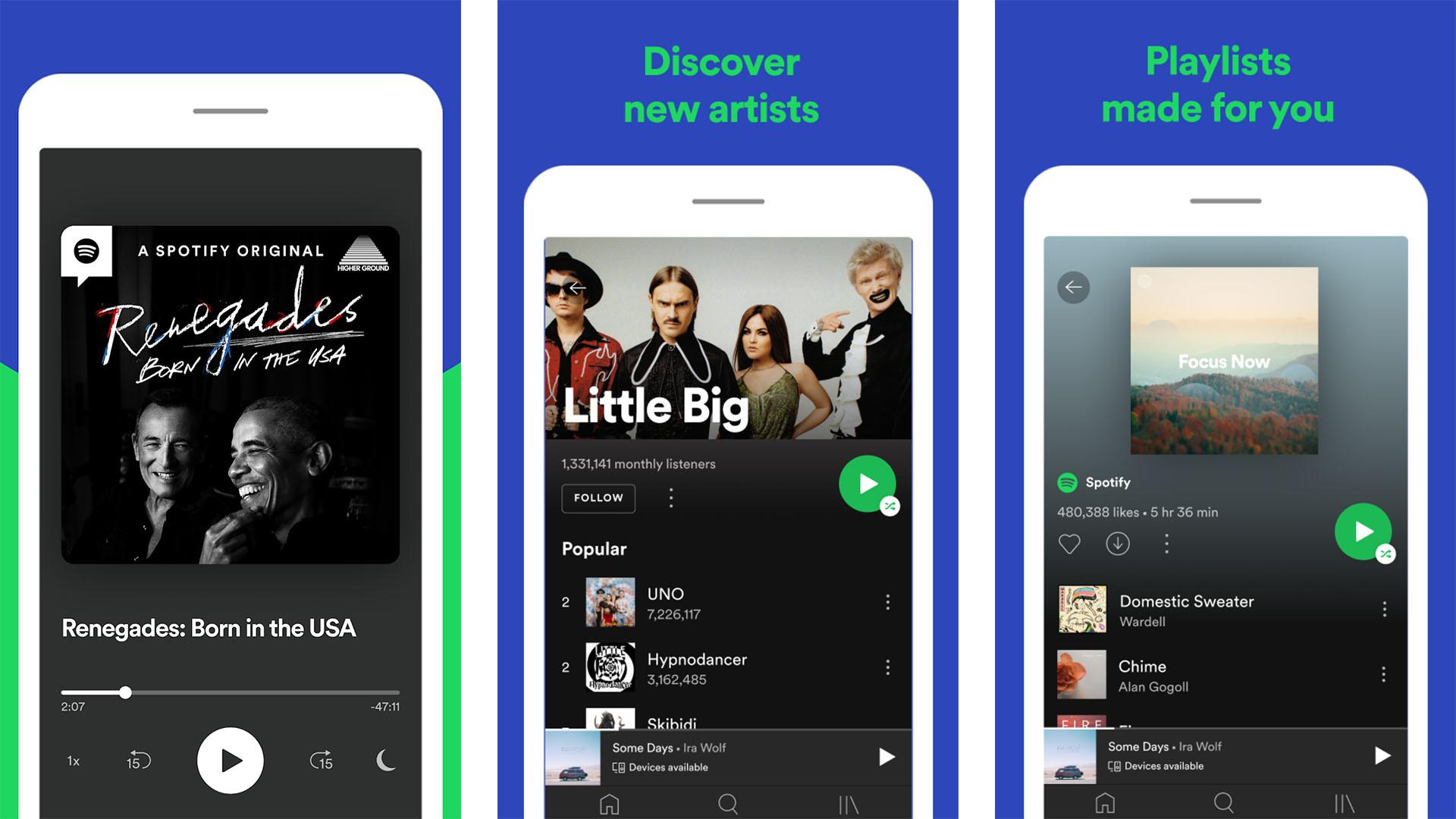 Spotify screenshot 2021