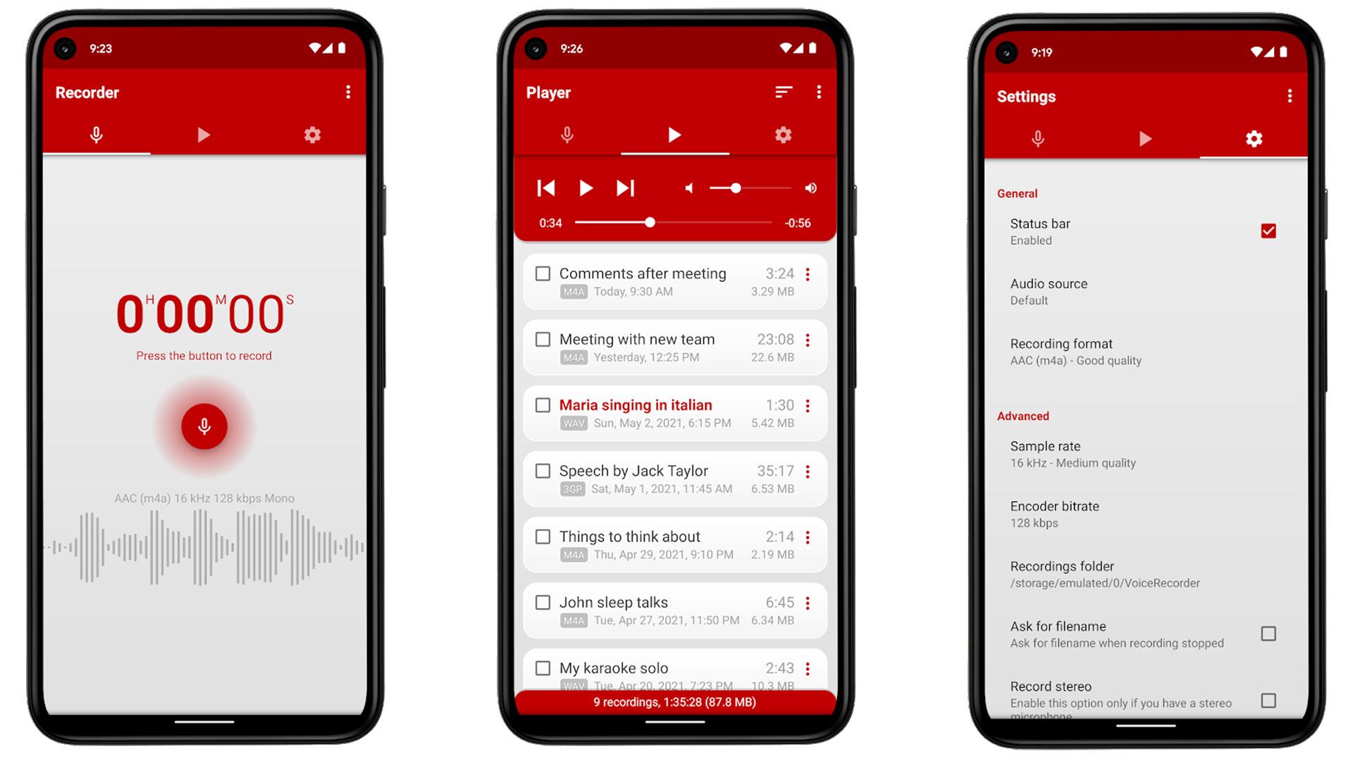 Voice Recorder Pro screenshot 2021
