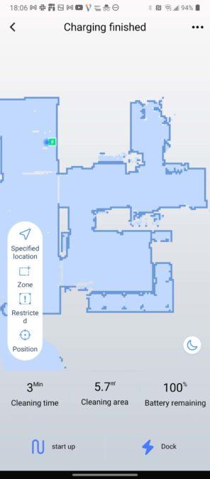 WeBack app Tesvor S6 robot vacuum options