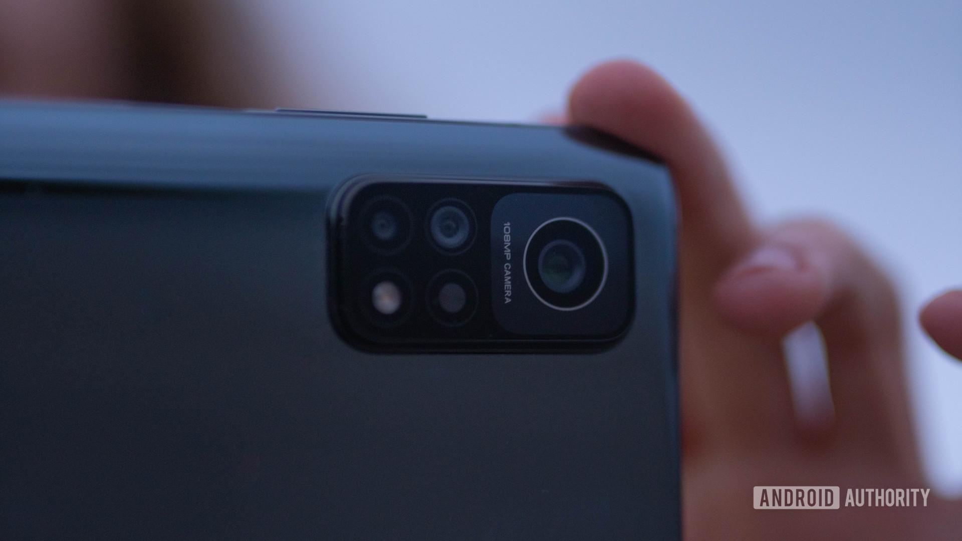 Xiaomi Mi 10T Proclose up of the camera in landscape