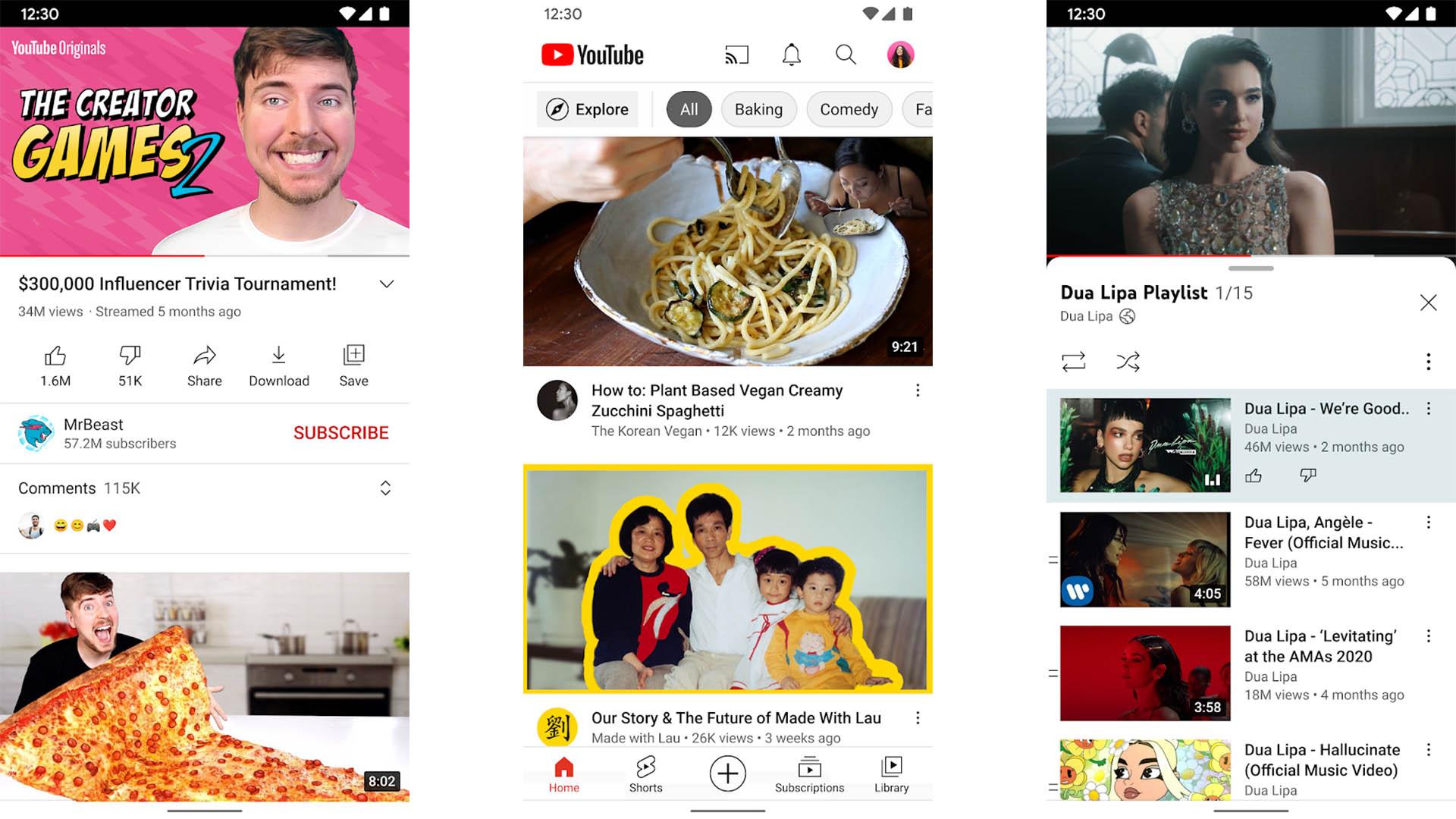 YouTube screenshot 2021