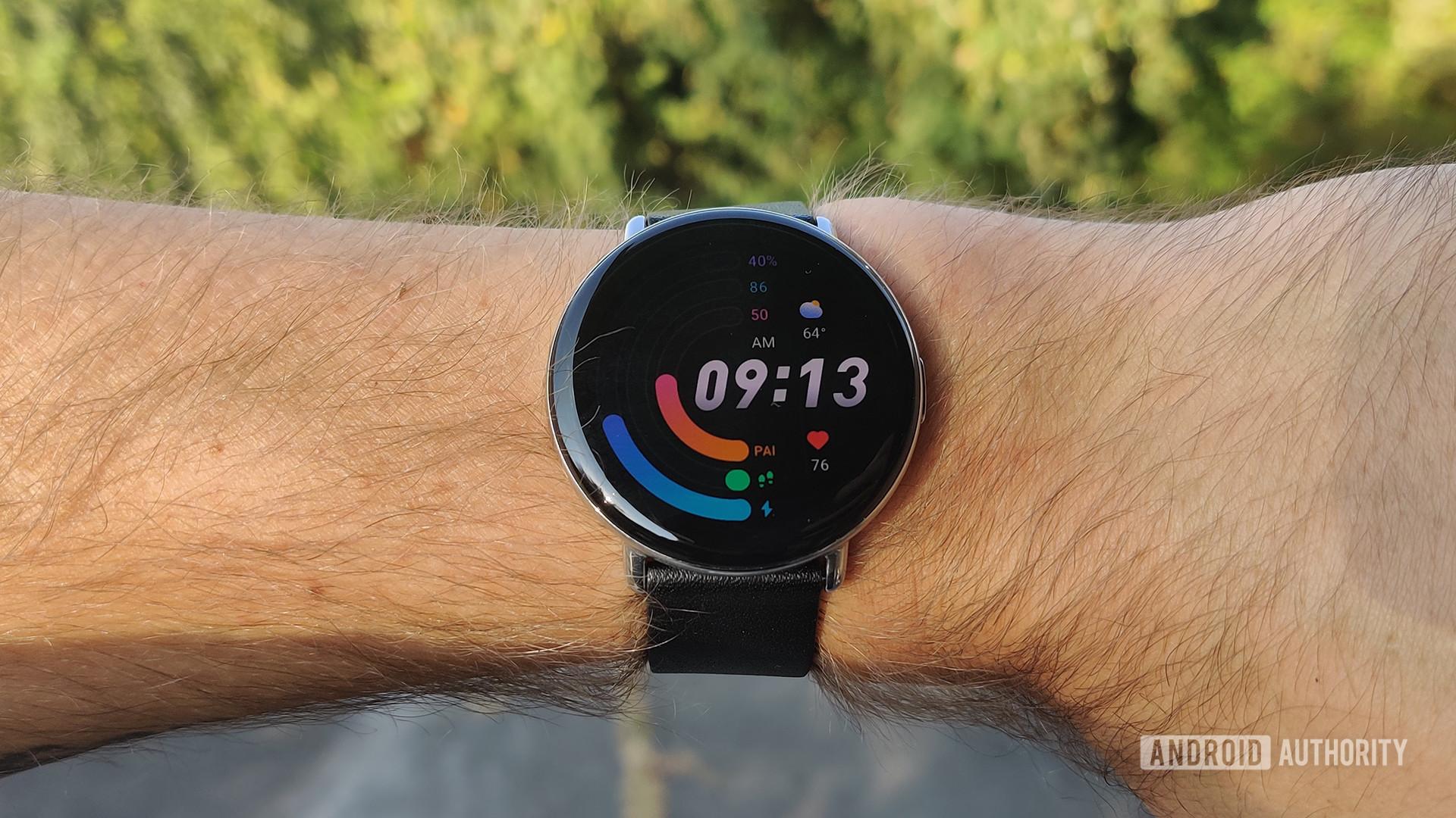 Zepp E Circle Review on Wrist Watch Face