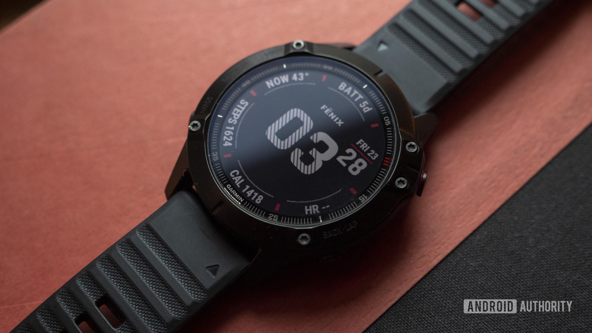 garmin fenix 6 pro display watch face 2