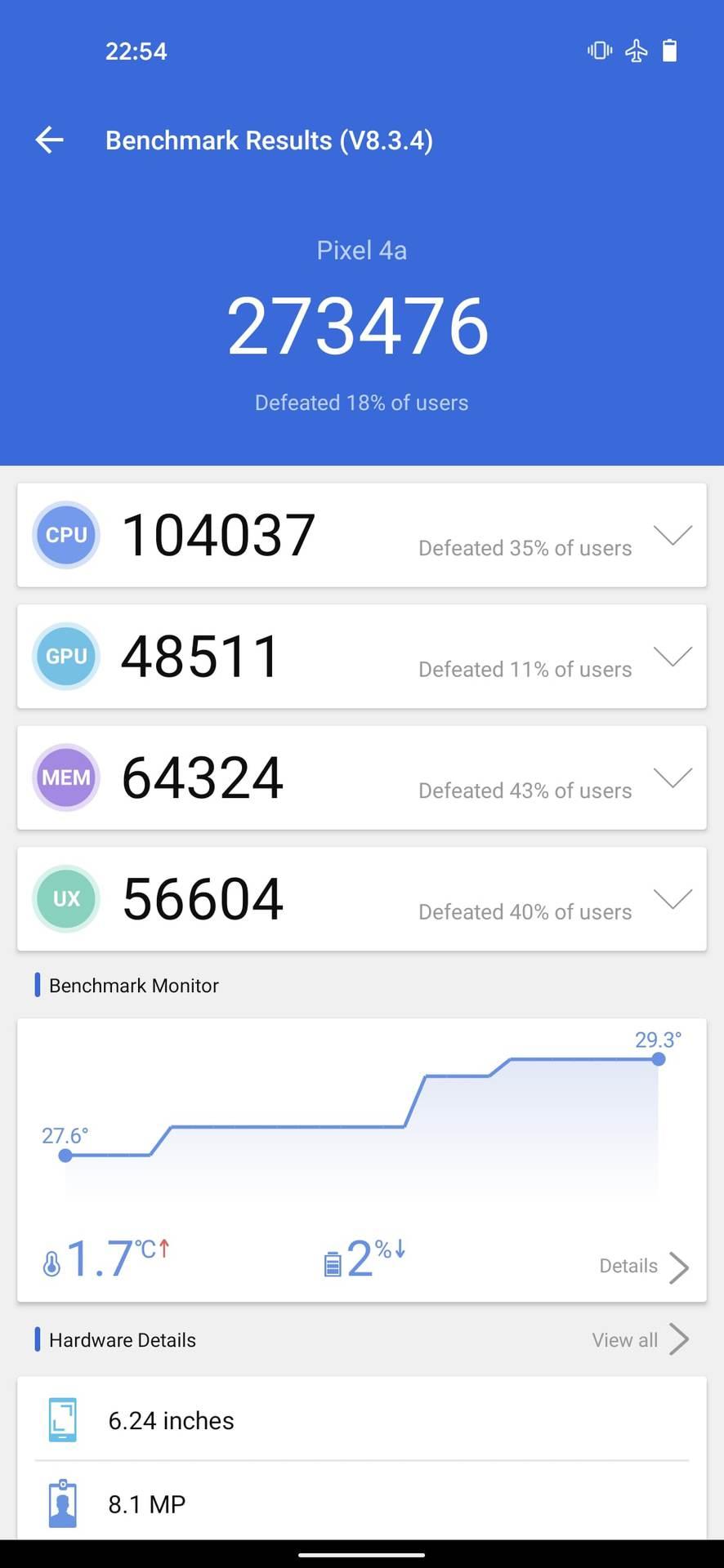 google pixel 4a 5g benchmark antutu