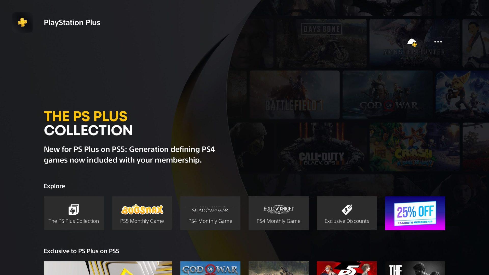 ps plus subscription page