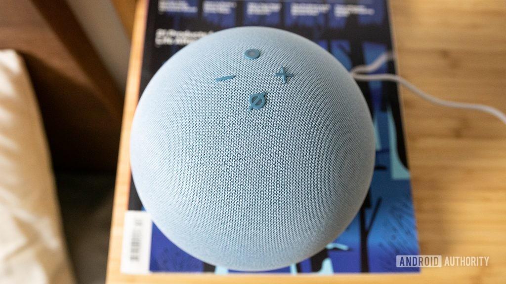 Amazon Echo 4th gen controls buttons