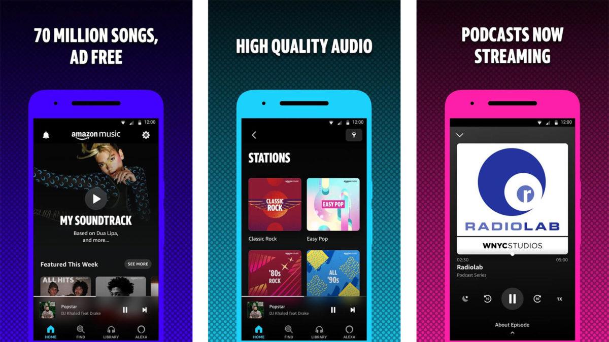 Amazon Music screenshot 2021