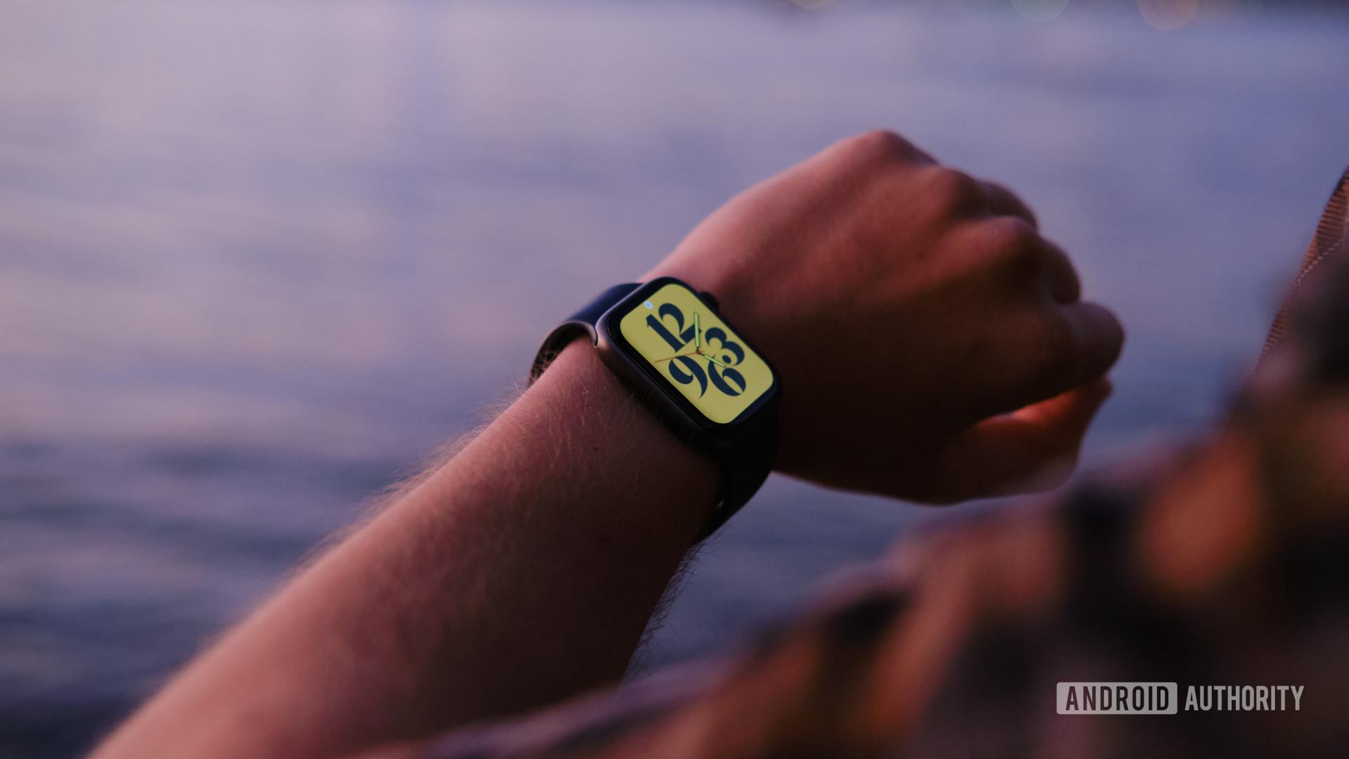 Apple Watch series 6 on arm 4