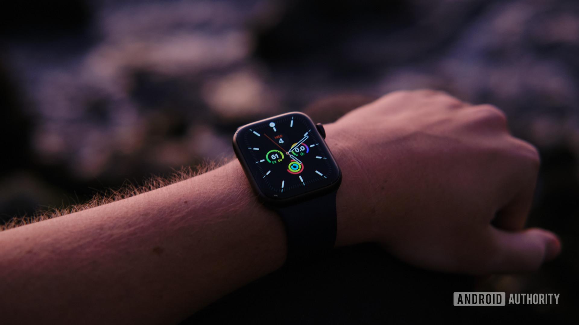 Apple Watch series 6 on arm 5