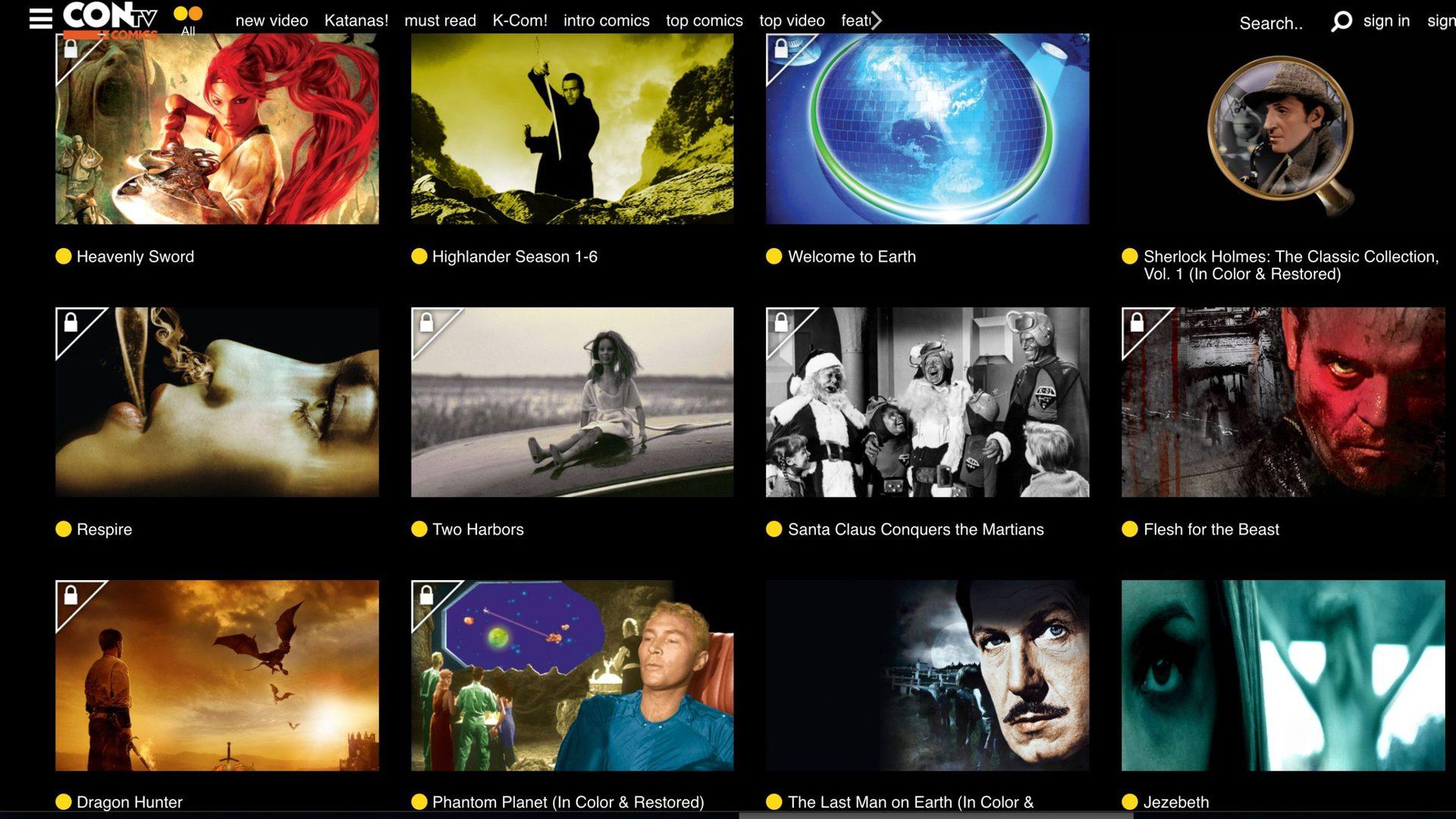ConTV Screenshot - free movies website