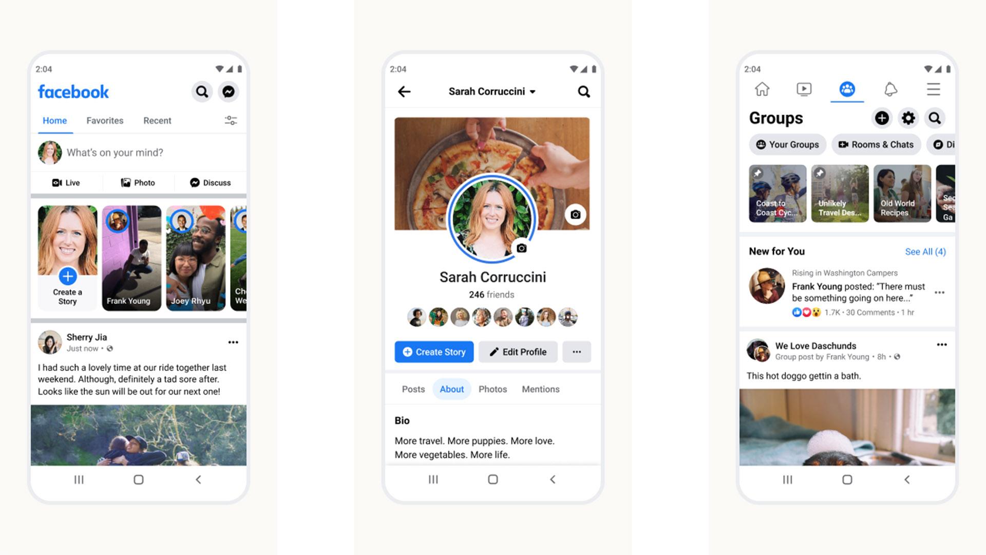 Facebook screenshot 2021