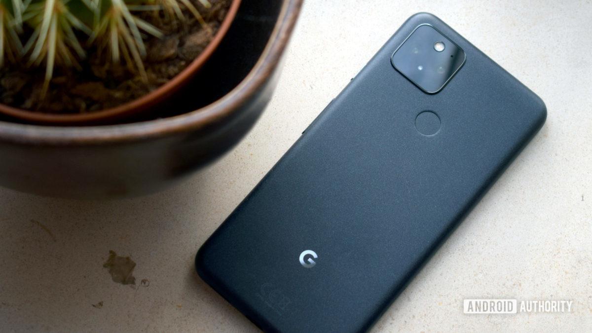 Google Pixel 5 Parte posterior gris