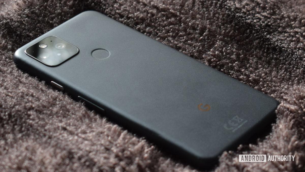 Google Pixel 5 gray back 2