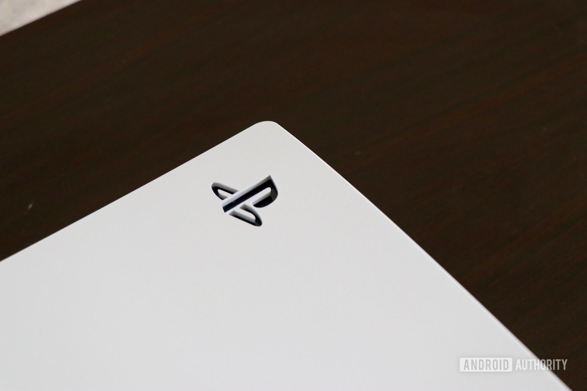 playstation logo close up on ps5