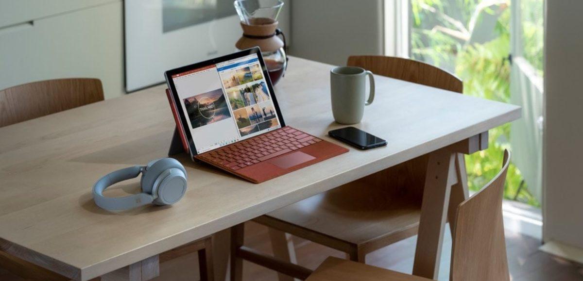 Foto promocional de Microsoft Surface Pro 7