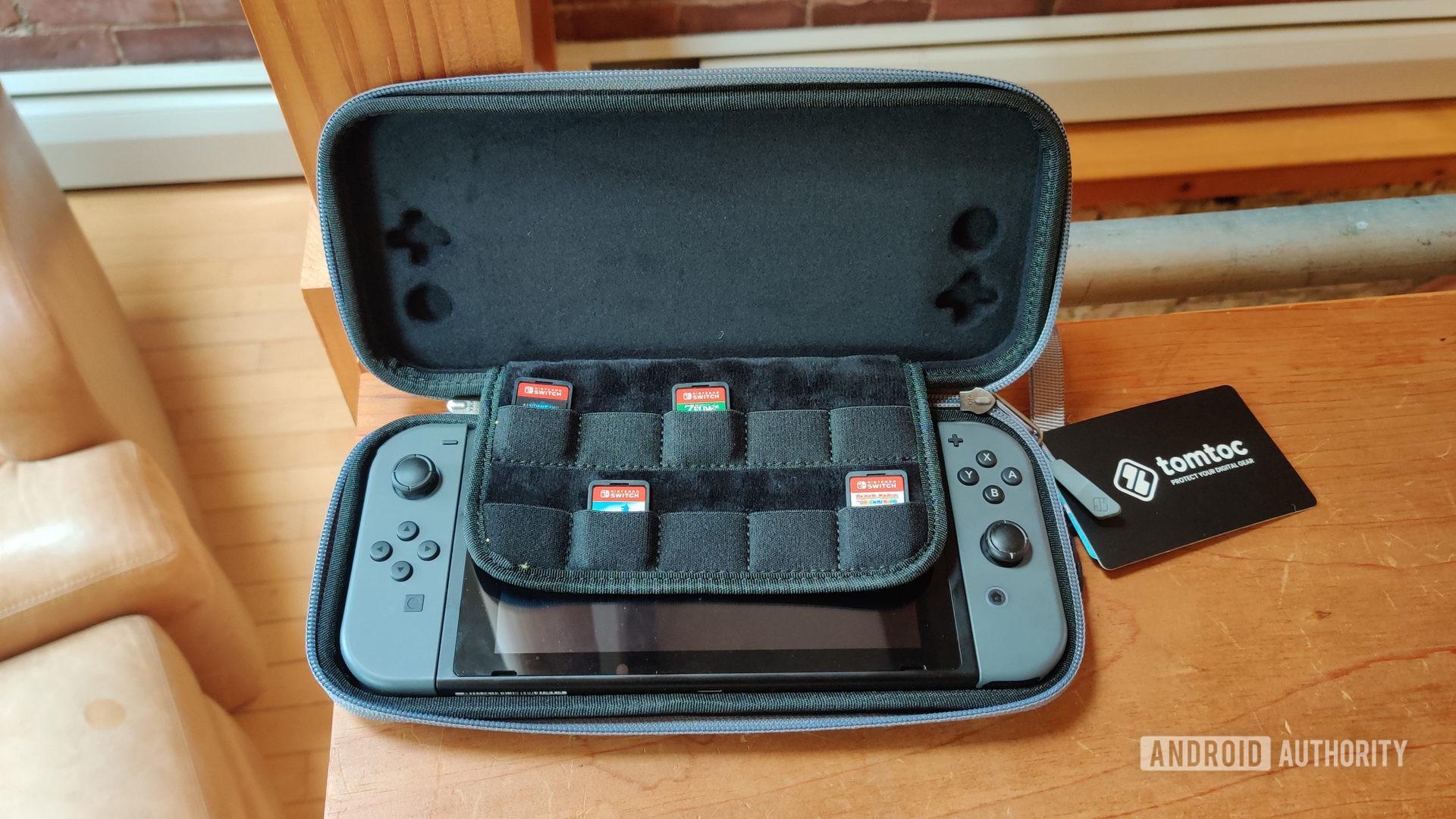 Nintendo Switch Tomtoc Travel Case Open