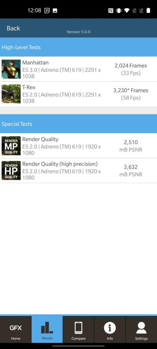 OnePlus Nord N10 5G GFXBench