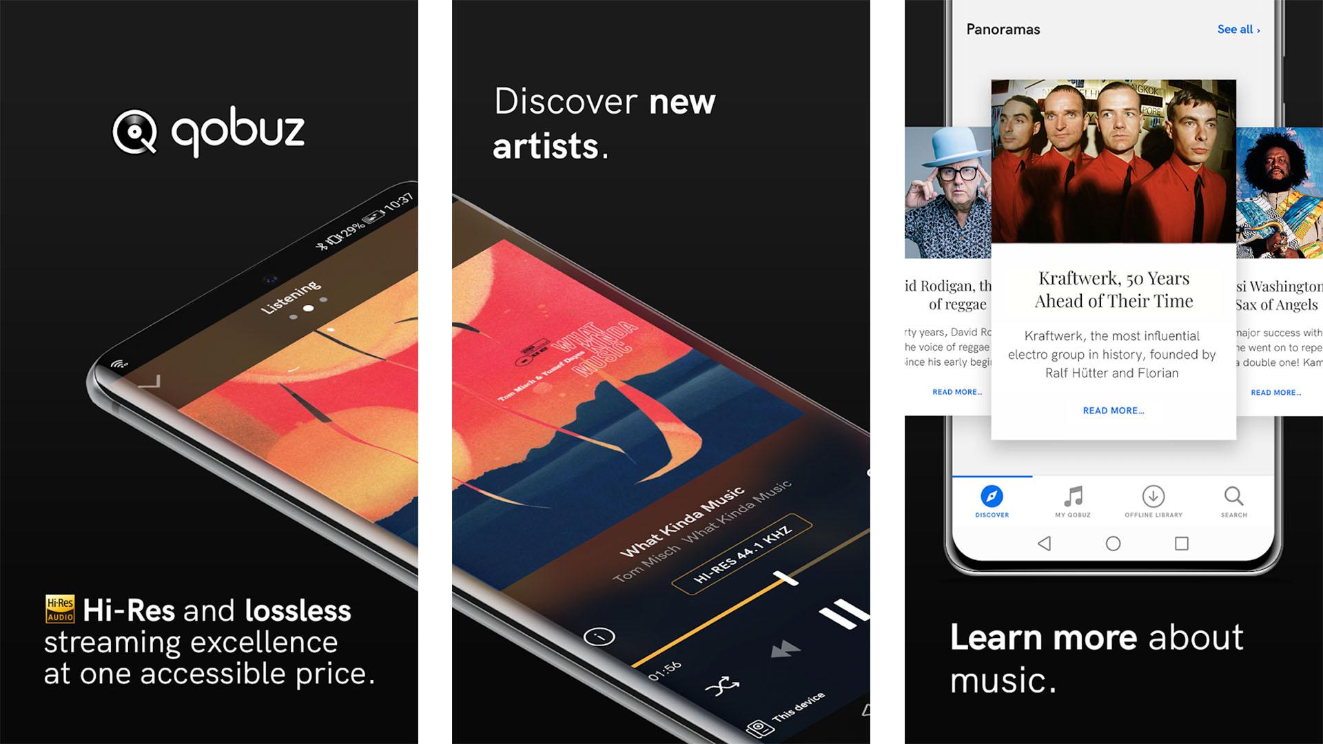 Qobuz screenshot 2020
