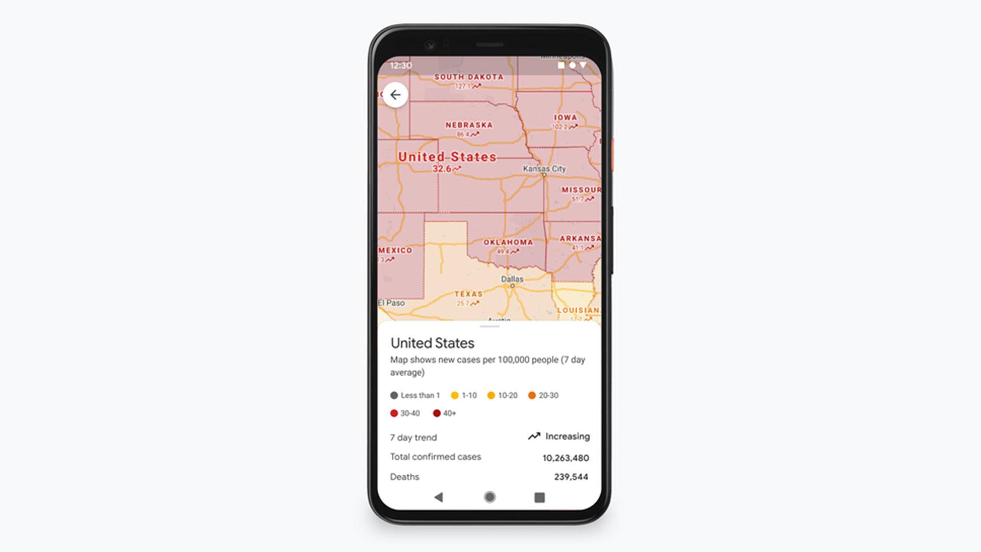 google maps covid 19 layer