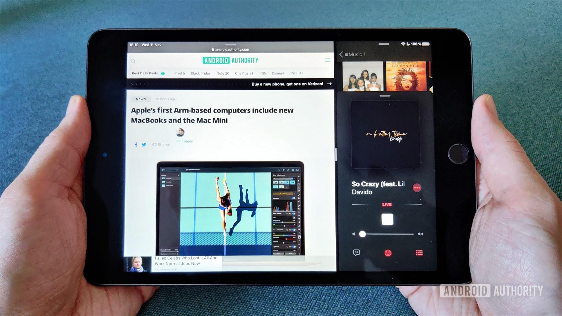 iPad Mini multitasking