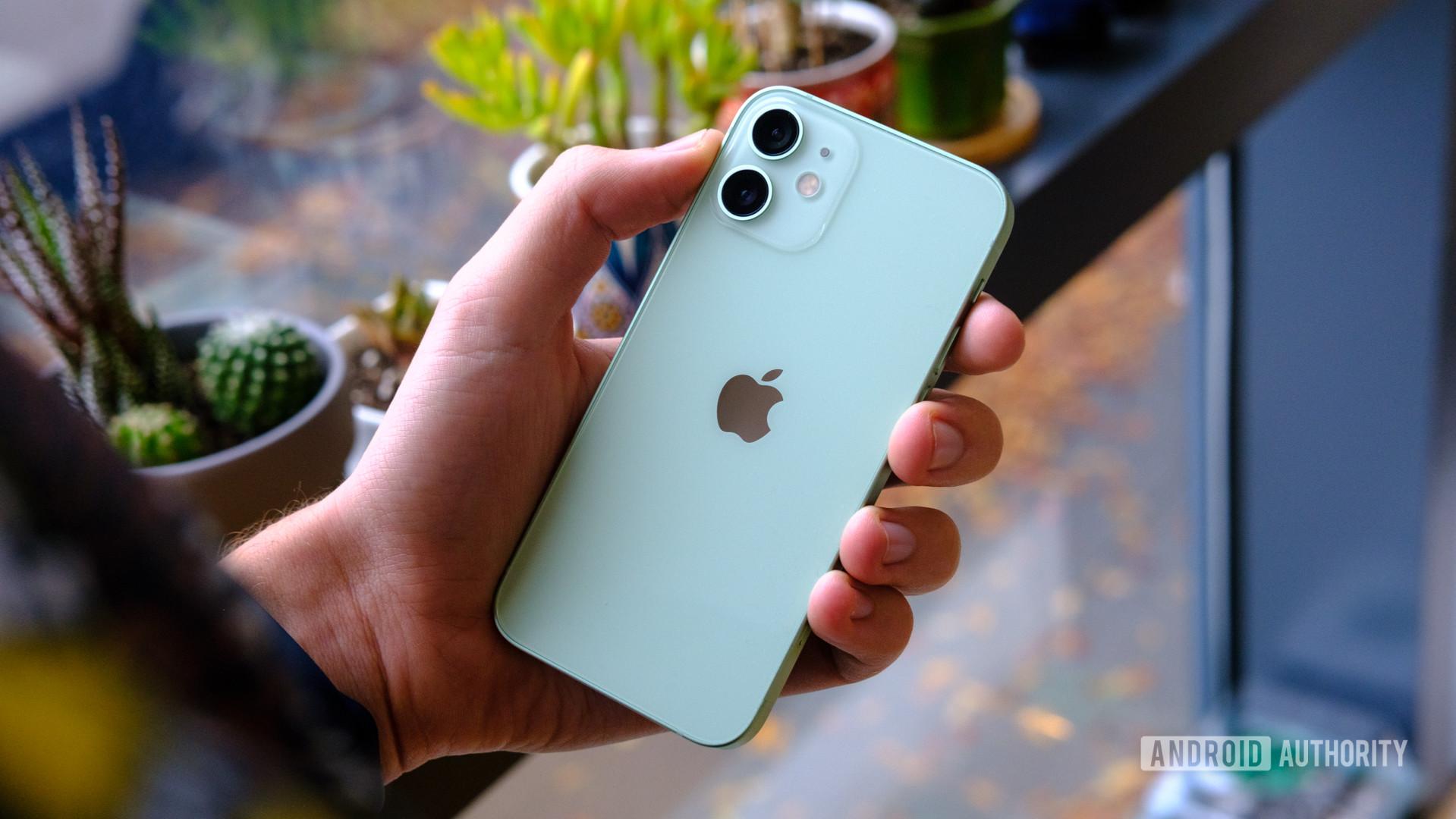 iPhone 12 Mini back in hand 1
