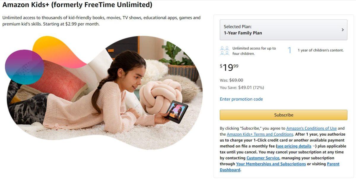 Amazon Kids Plus Deal