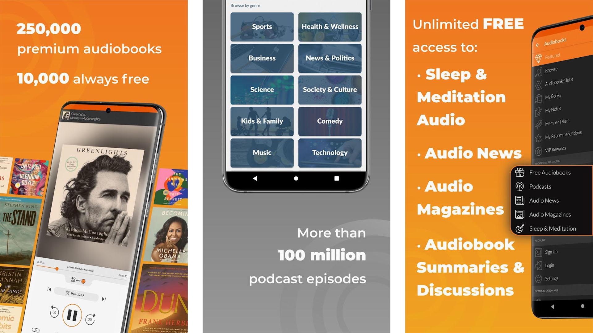 Audiobooks screenshot 2021