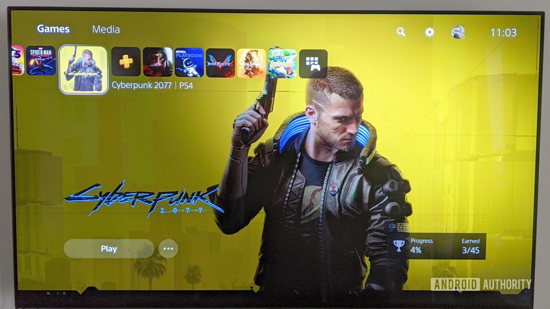 Cyberpunk 2077 on Playstation 5