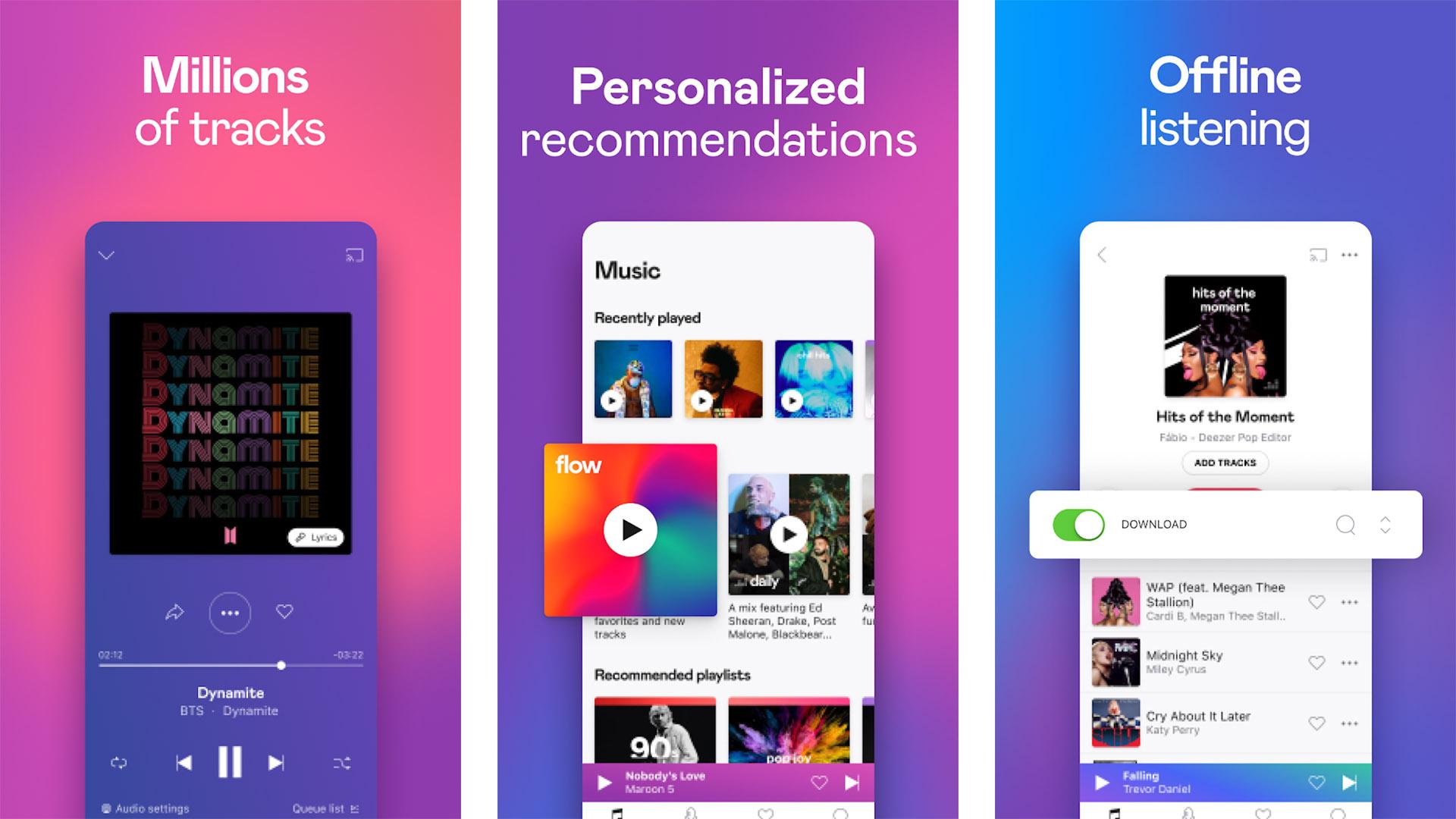 Deezer Music Player screenshot 2021