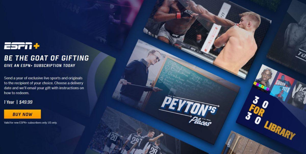 ESPN Plus Gift Card Promo Shot