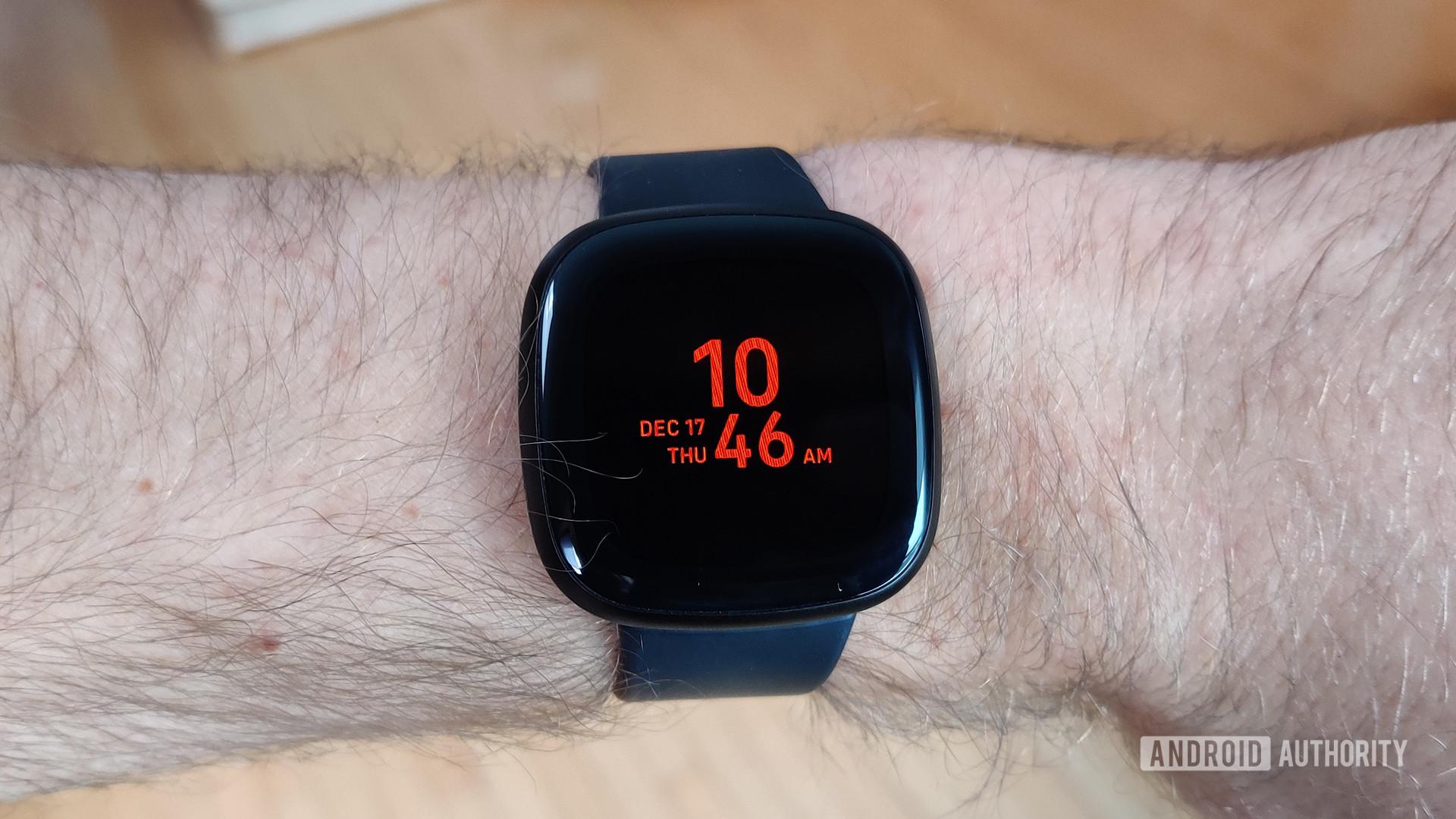 Fitbit Versa 3 Review Always On Display on Wrist