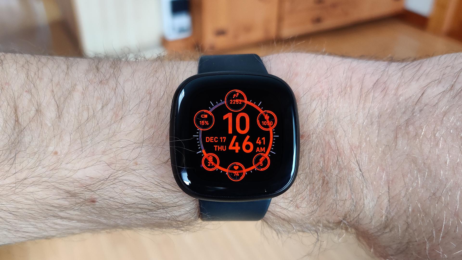 Fitbit Versa 3 Review Main Display on Wrist