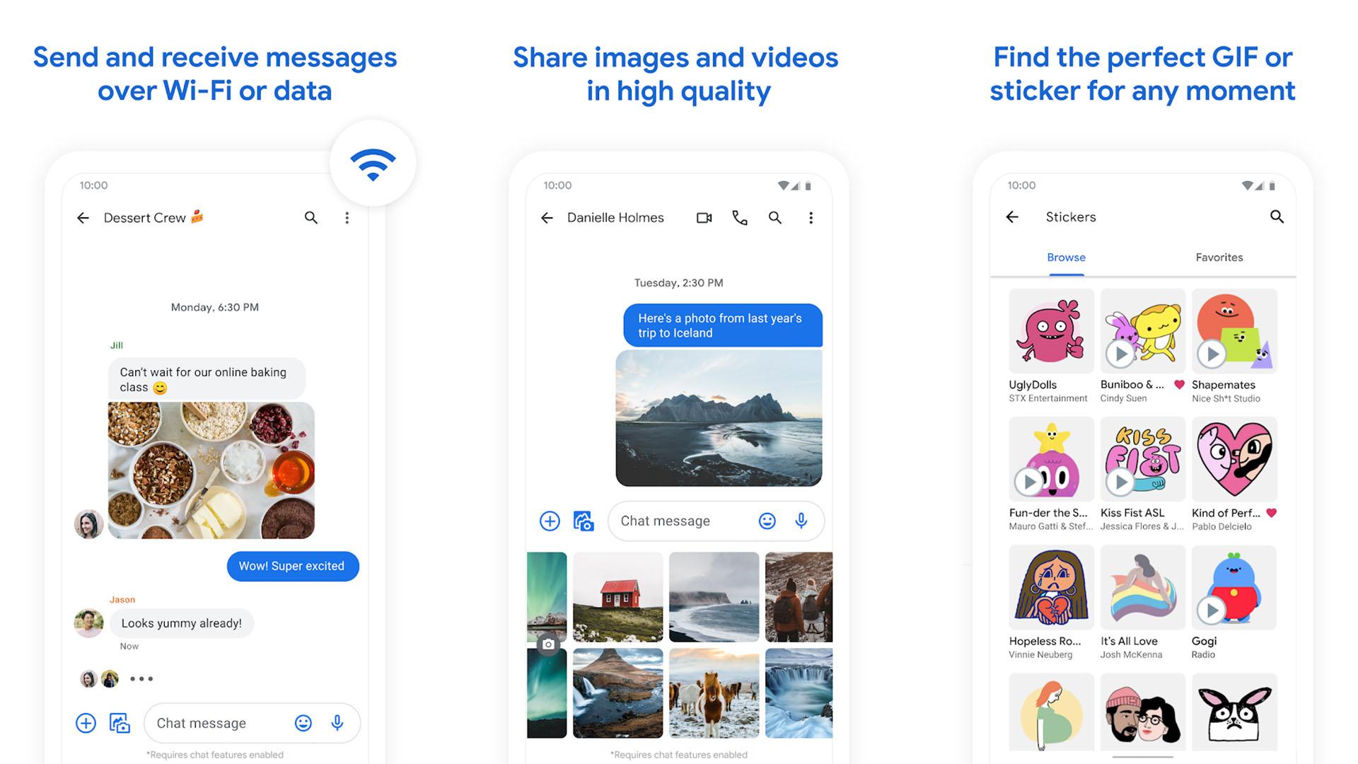 Google Messages screenshot 2021