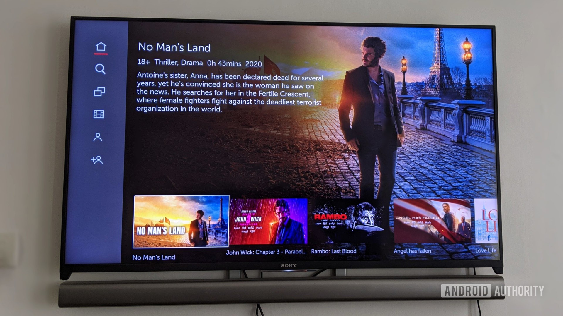 Lionsgate Play app on Sony Android TV