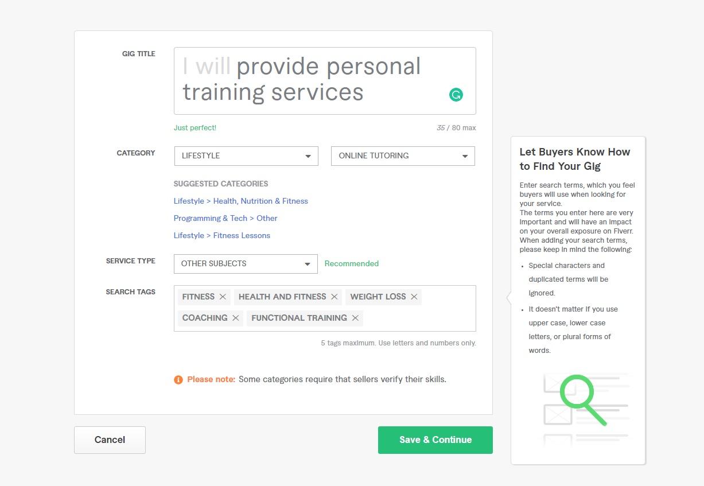Personal Training Online Fiverr