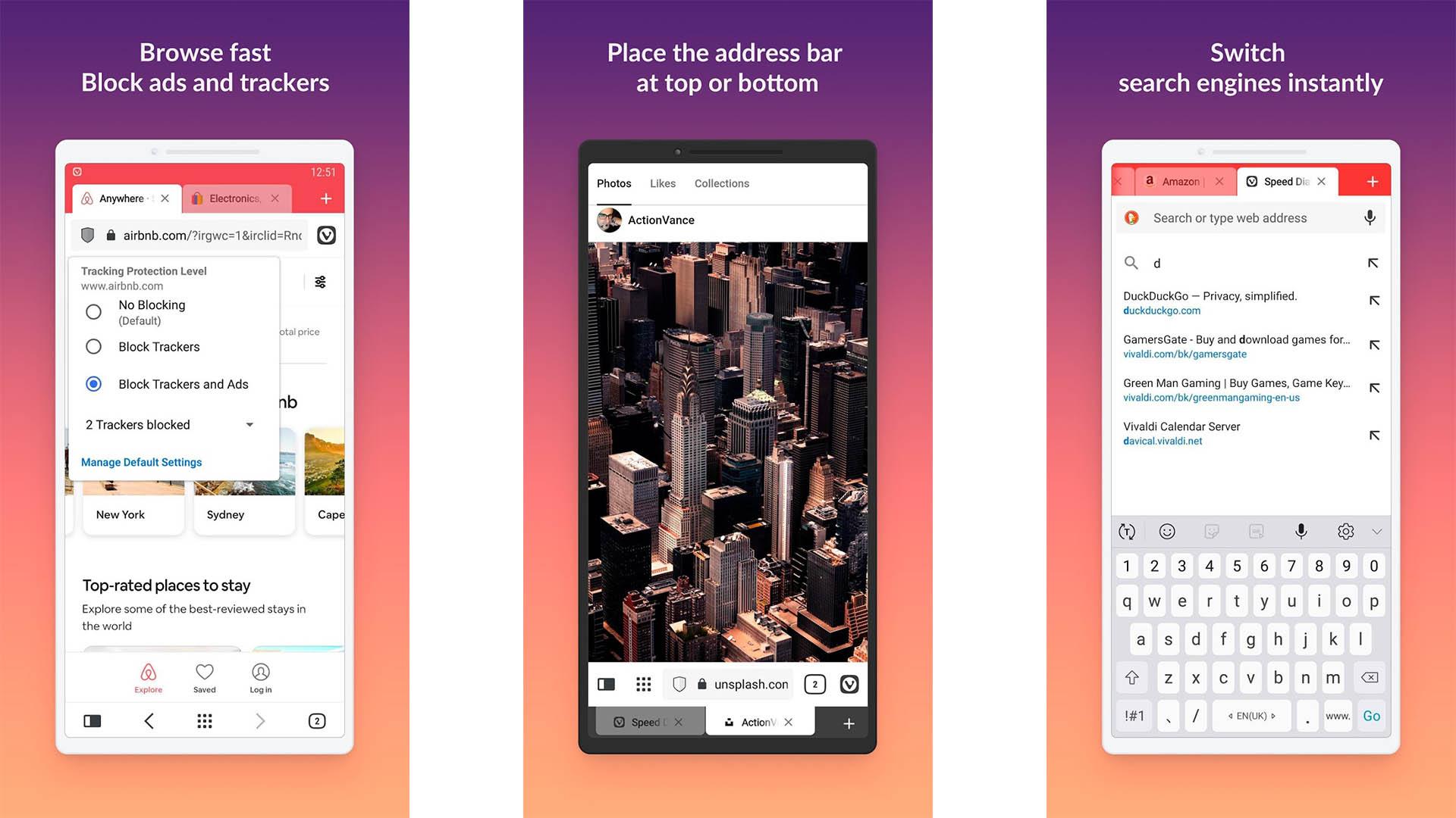 Vivaldi Browser screenshot 2020