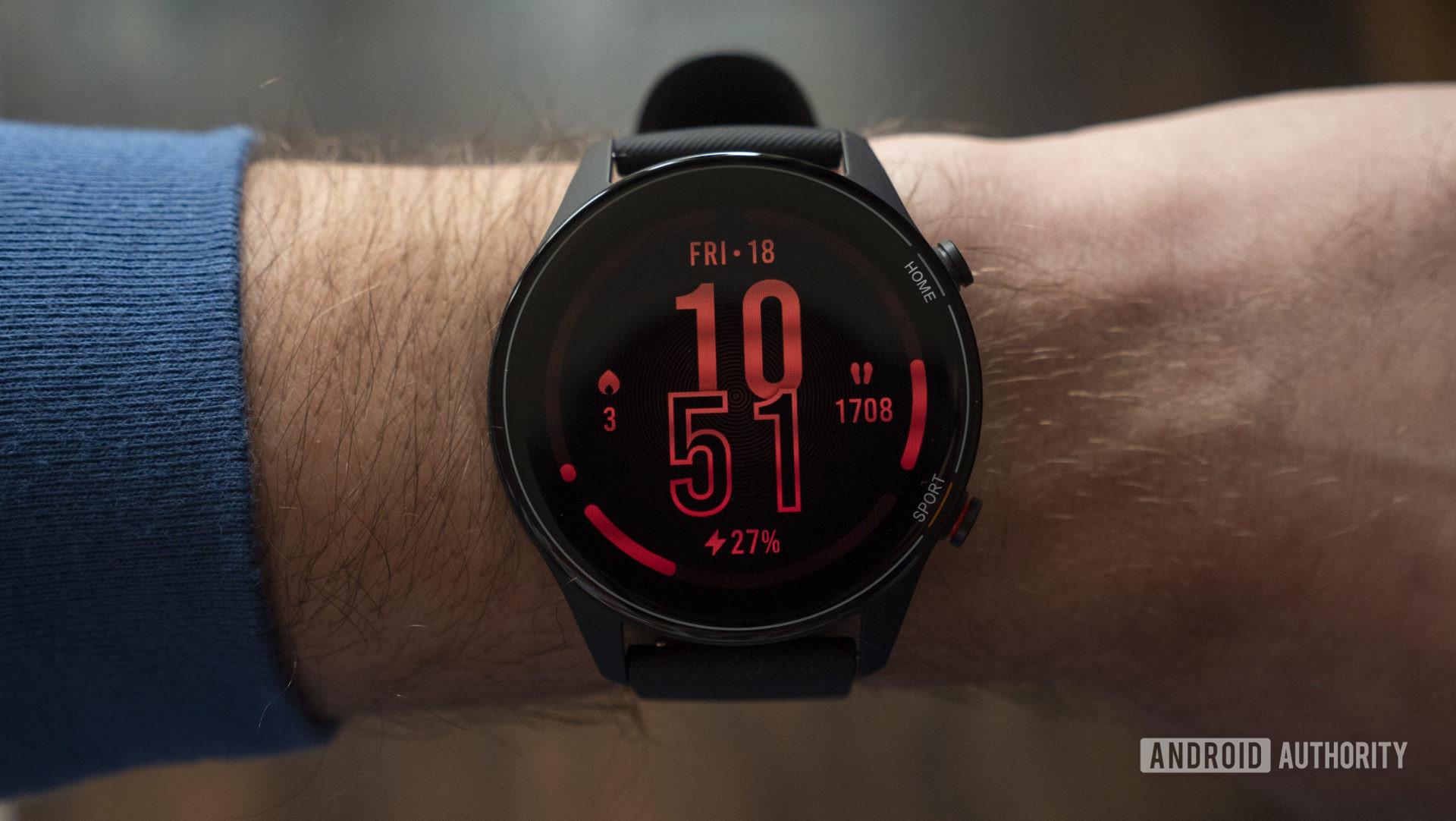 xiaomi mi watch review watch face display on wrist 1