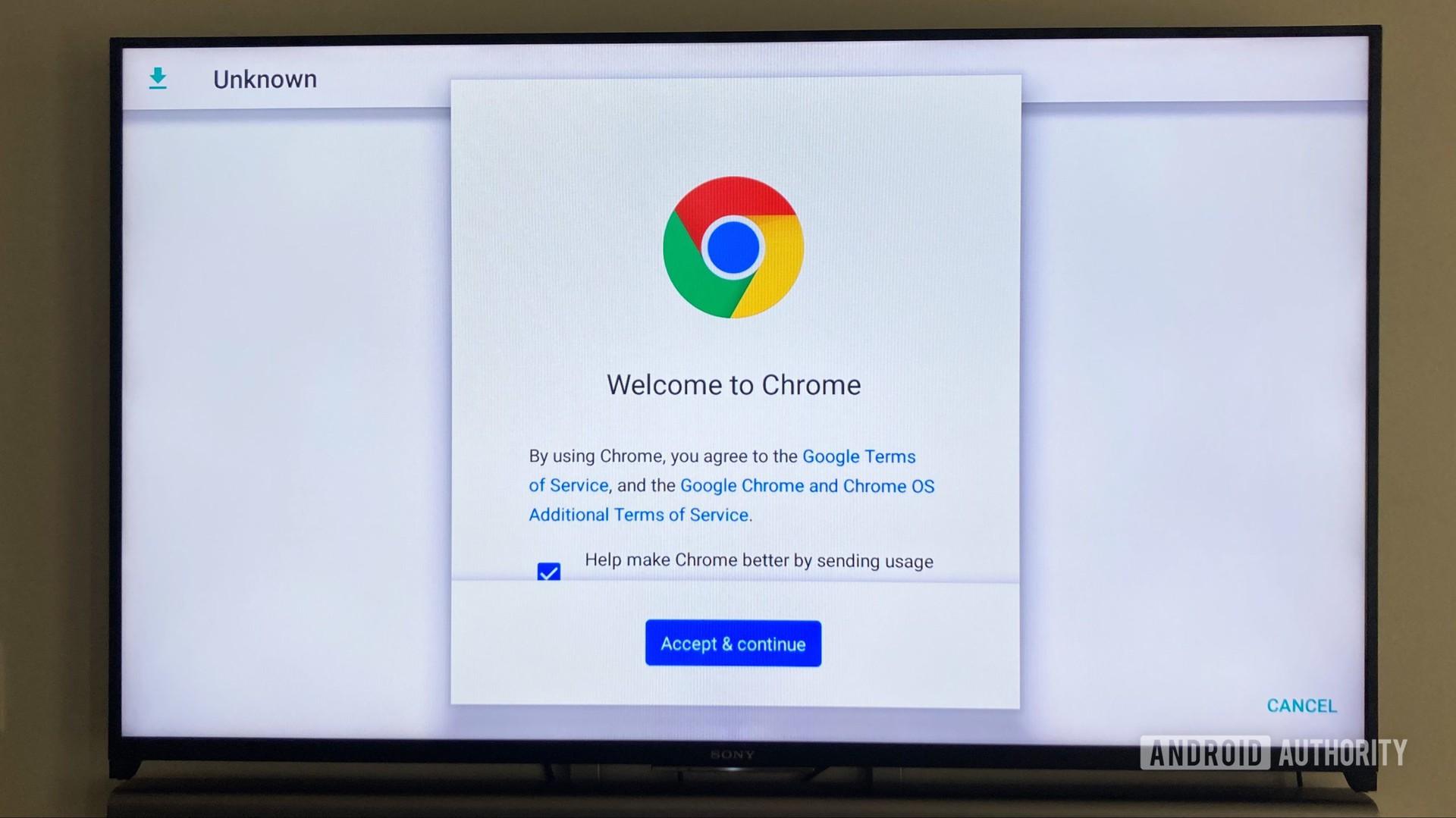Google Chrome App On Android TV