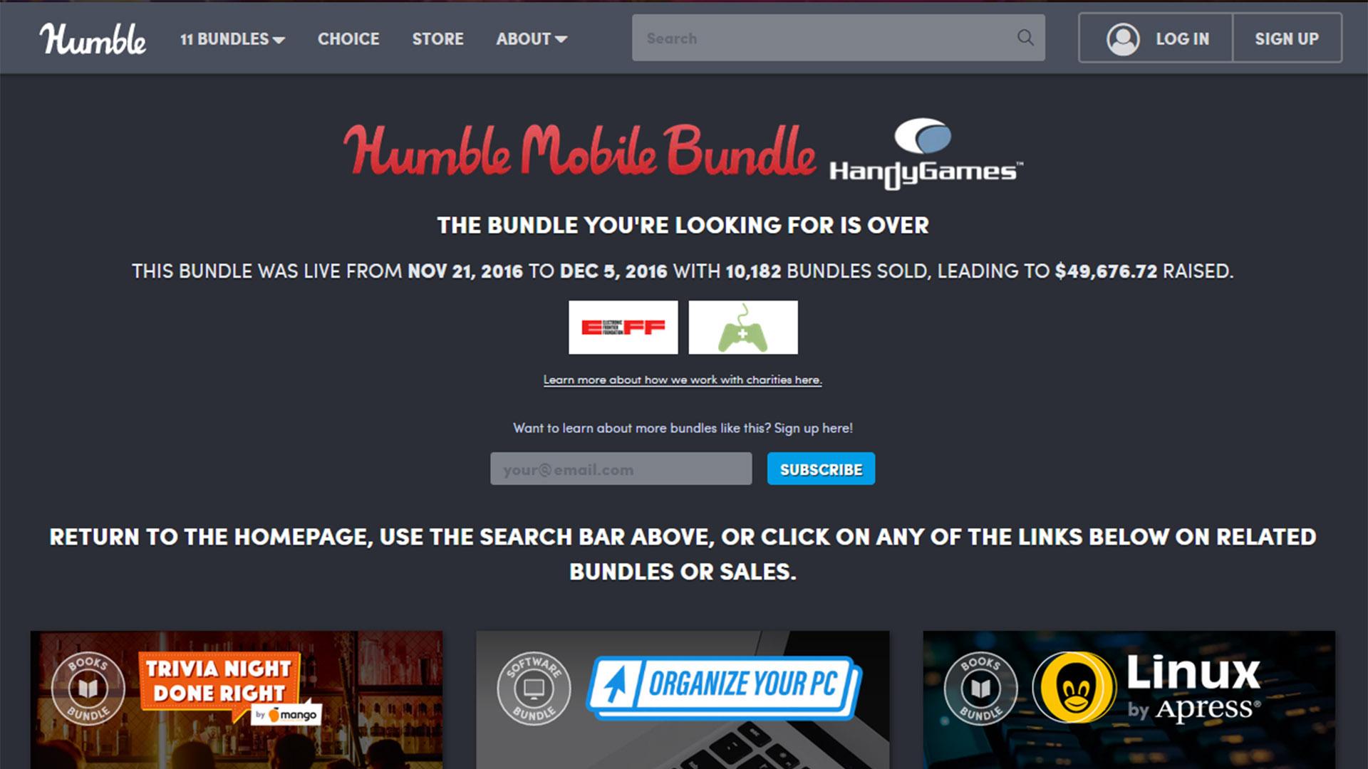 Humble Mobile Bundle screenshot 2021