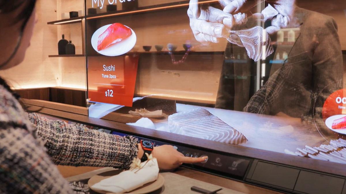 LG Smart Restaurant display 2