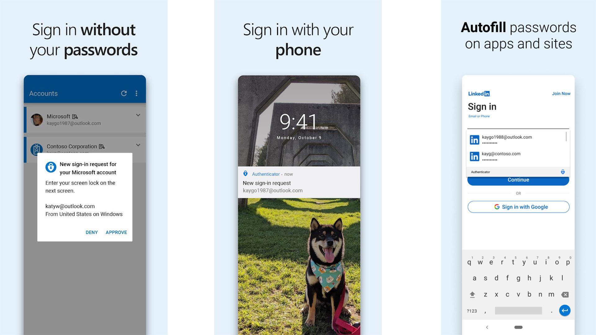 Capture d'écran de Microsoft Authenticator 2021