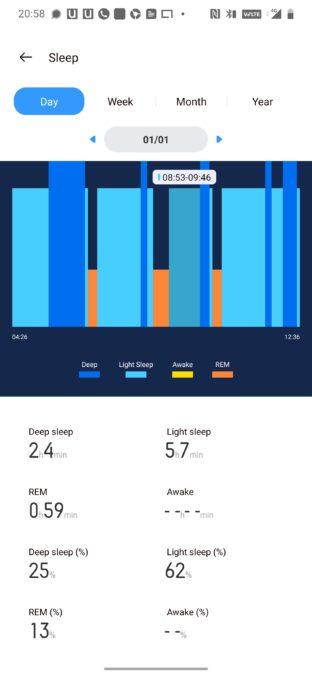Realme sleep tracking