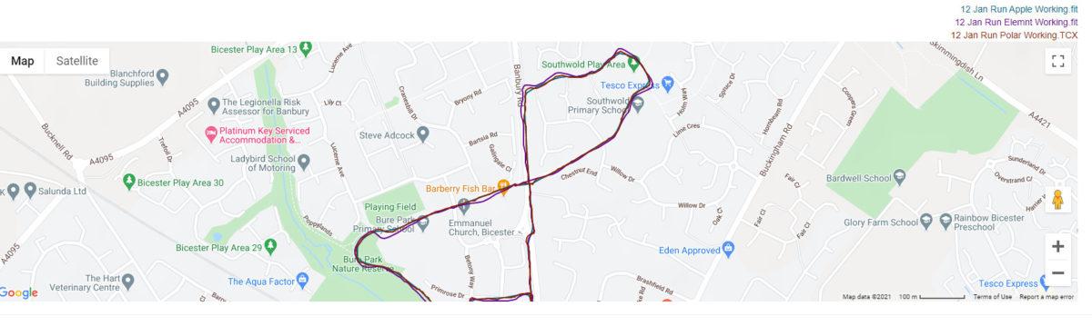 Rival Elemnt GPS Data Comparison