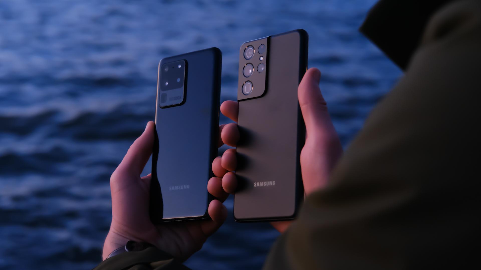 Samsung Galaxy S20 Ultra vs S21 Ultra design
