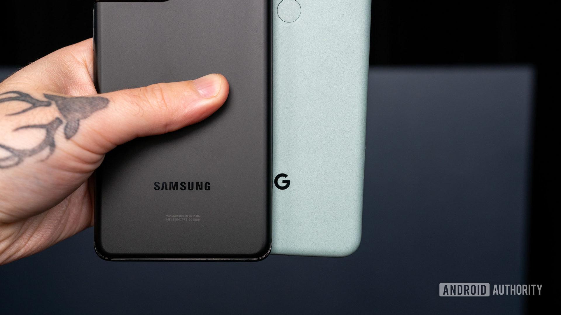 Samsung Galaxy S21 Ultra vs Google Pixel 5 2
