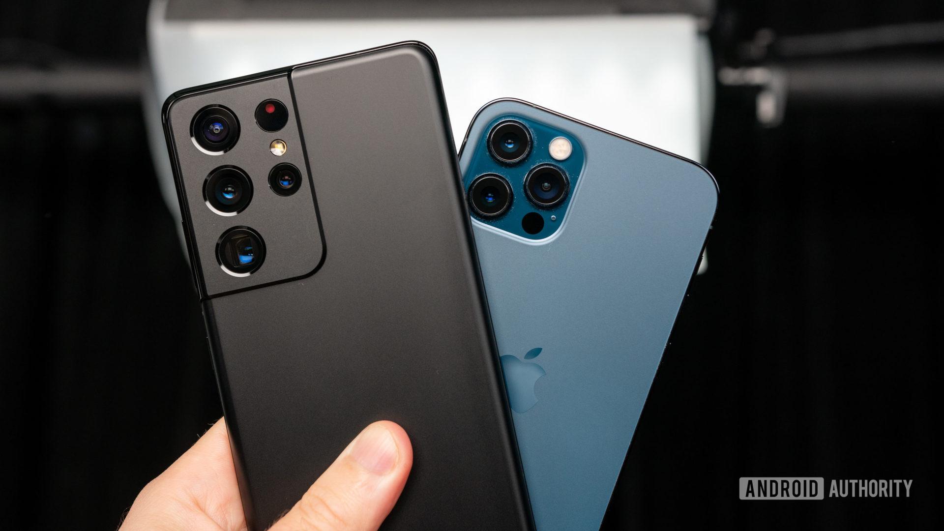 Samsung Galaxy S21 Ultra vs iPhone 12 Pro 1