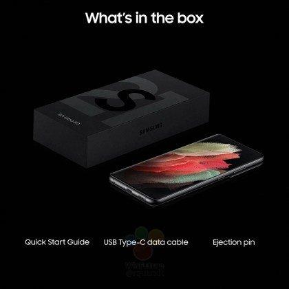 Samsung Galaxy S21 in box accessories
