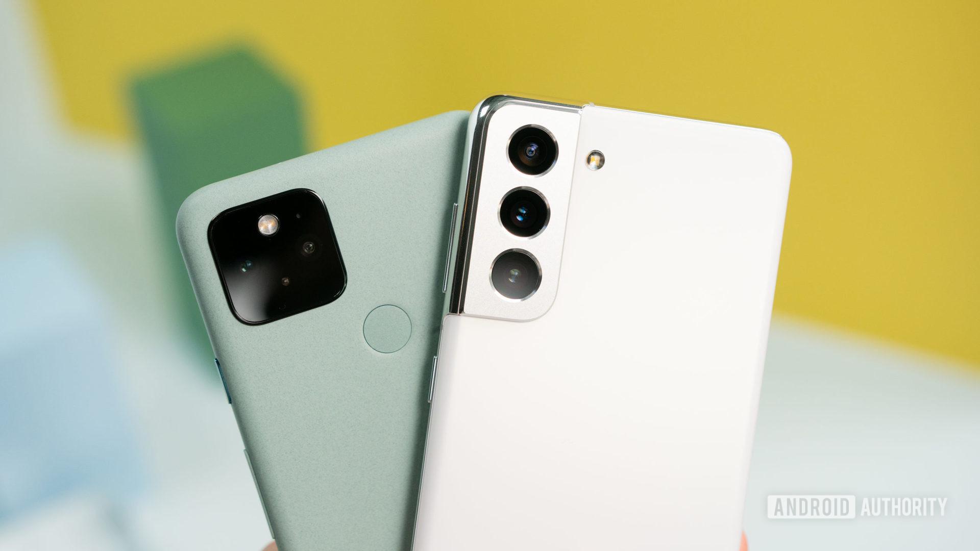 Samsung Galaxy S21 vs Google Pixel 5 cameras