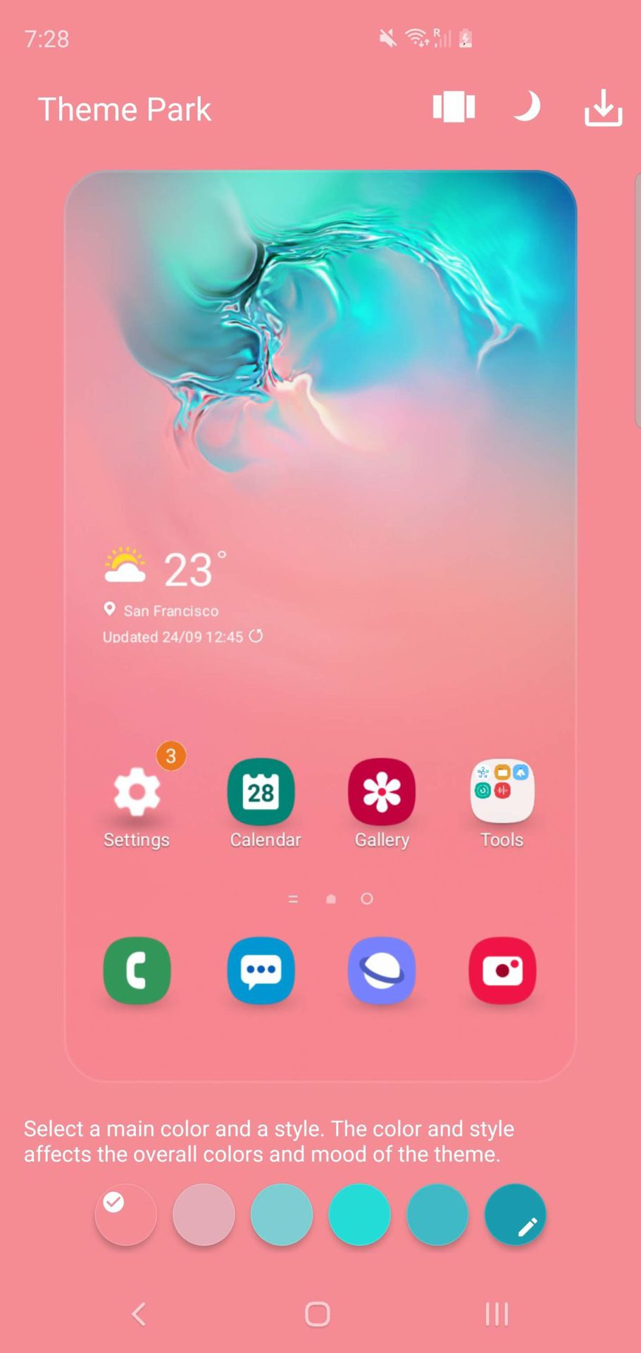 Samsung Theme Park Themes and Style 1